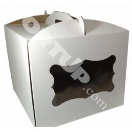 Коробка для торта с окном  300х300х250, 3шт