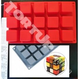Силиконовая форма мини Куб, 15 ячеек
