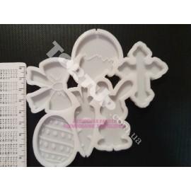 Молд силиконовый для леденцов Пасхальный набор №1 от 4.5см до 6см