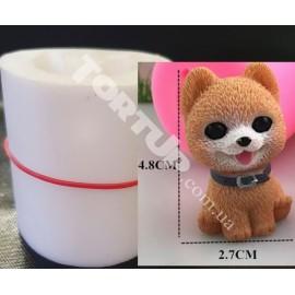 Молд силиконовый 3D Собачка №2 высота 4,5см
