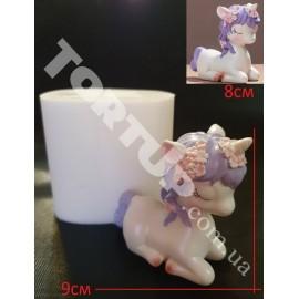Молд силиконовый 3D Единорог №2 высота 8см ширина 9см
