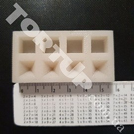 Молд силиконовый для изготовления бусинок Кубик и пирамида 1см