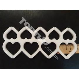 Молд силиконовый для леденцов Сердечки 3см и 4см без дна