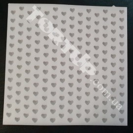 Молд силиконовый для изготовления бусинок Сердечки 1см размер планшета 18/18 см