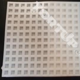 Молд силиконовый для изготовления бусинок Прямоугольные 1см размер планшета 18/18 см