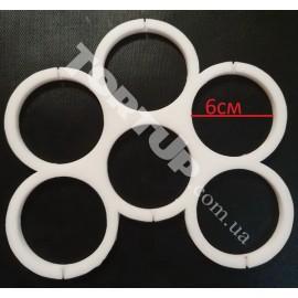 Молд силиконовый для леденцов Круги без дна 6см