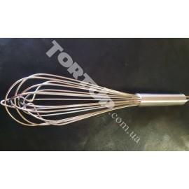 Венчик металлический профессиональный, длина венчика 34 см, длина ручки 13 см