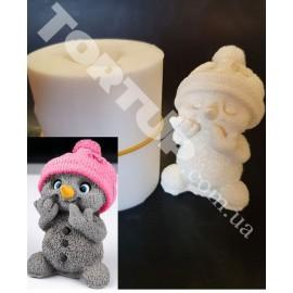 Молд силиконовый 3D Снеговик №1, 7,5см