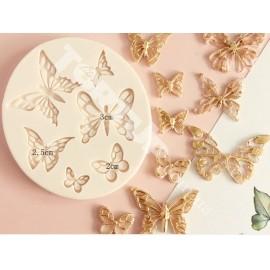 Молд Бабочки №2 из 6шт от1,5см до 4см