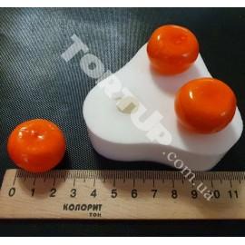 Молд силиконовый 3D Мини мандарин 2,5см из 3шт (эксклюзивный)