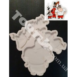 Молд силиконовый для леденцов Козаки №2 из 3шт 8см,7см, 6,5см