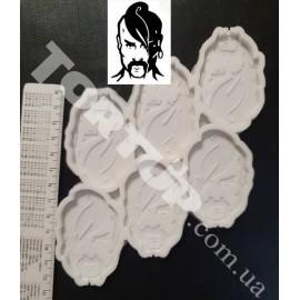 Молд силиконовый для леденцов Козак №1, 6см