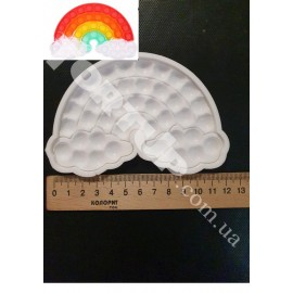 Молд силиконовый для леденцов Антистресс Поп Ит Радуга (№3), высота 8см, ширина 12см