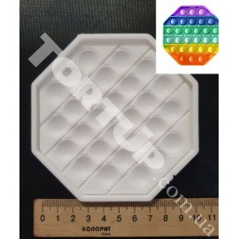 Молд силиконовый для леденцов Антистресс Поп Ит Восьмигранник (№7), 10см