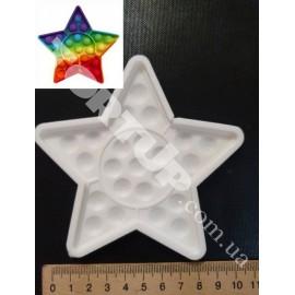 Молд силиконовый для леденцов Антистресс Поп Ит Звезда (№8), 10см