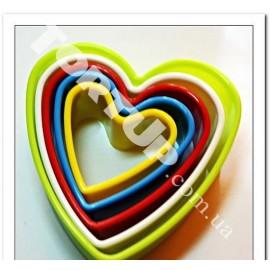 Вырубка Сердца разноцветные от 3 до 9см