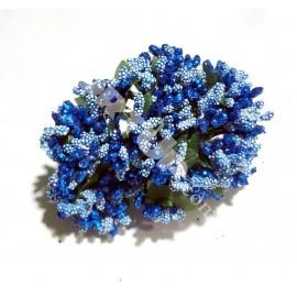 Тычинки с бусинками синие 11см 1 пучок 12 веточек