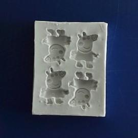Молд Свинка Пеппа 5х6.5 см