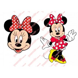 Вафельная картинка Микки и Минни 013