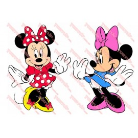 Вафельная картинка Микки и Минни 037