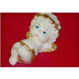 Молд 3D Ангелочек с венком из сердечек №2 (4*7см)