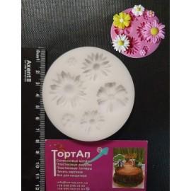 Молд Летние цветы, диаметр молда 8см