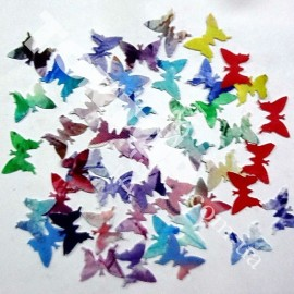 Бабочки съедобные вафельные мелкие 1,5см 40шт