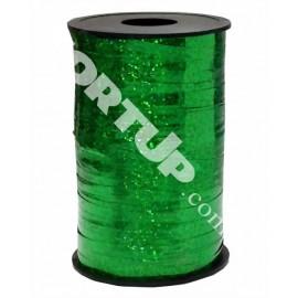 Лента в катушке зелёная голография