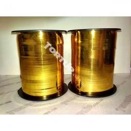 Лента в катушке светлое золото 0,5см