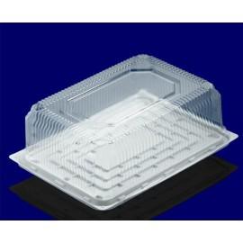 Коробка для тортов прямоугольная пластиковая с прозрачной крышкой, 5шт