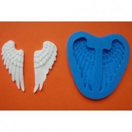 Молд Крылья ангела  размер готового 6,0*2,7 cм