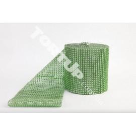 Лента Стразы зелёные