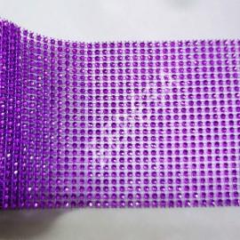 Лента Стразы фиолетовые