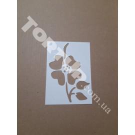 Трафарет №5 Цветок малый 6,5*9,5см