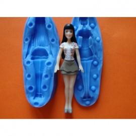 Молд 3D Кукла, высота 10см