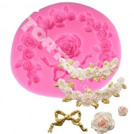 Молд Бантик и розы