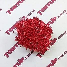 Тычинки маленькие красные примерно 80шт