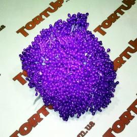 Тычинки маленькие фиолетовые примерно 80шт