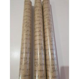 Упаковочная бумага письмо белая Ретро 10м*70см