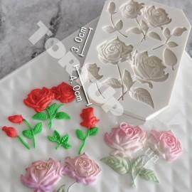 Молд Розы с ветками