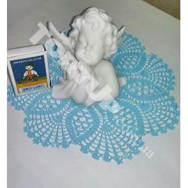 3D Ангел большой 8см из мастики неокрашенный