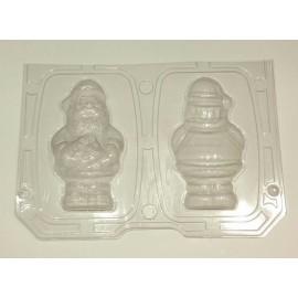 Форма для шоколада Дед Мороз 3D 155*85*40 мм