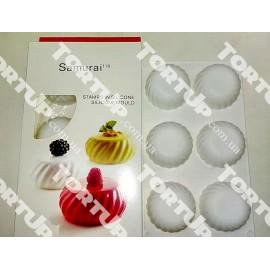 Силиконовая форма для евро-десертов Samurai, размер ячейки 6*6см, глубина 3см, 30*20см