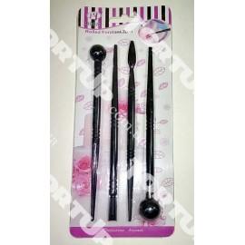 Набор инструментов чёрные 4шт длина инструмента 16,5 см