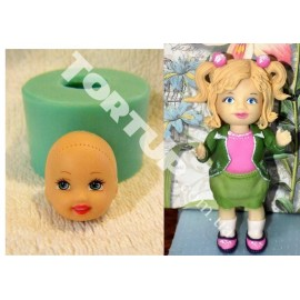 Молд Кукла голова