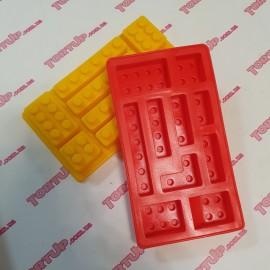 Силиконовая форма Конструктор Лего №1, размер формы 11х10,5см
