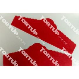 Салфетка пергаментная порционная Красная 25шт, длина 22см, высота 7,5см