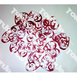 Вафельные сердечки бело-красные 3,5см 20шт