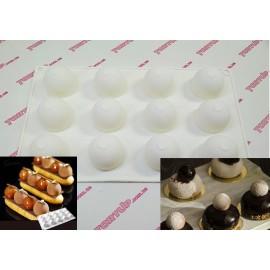 Форма силиконовая Mini truffles, d-32мм, h-28мм, 12шт