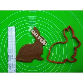 Пластиковая вырубка Заяц №2, 12см